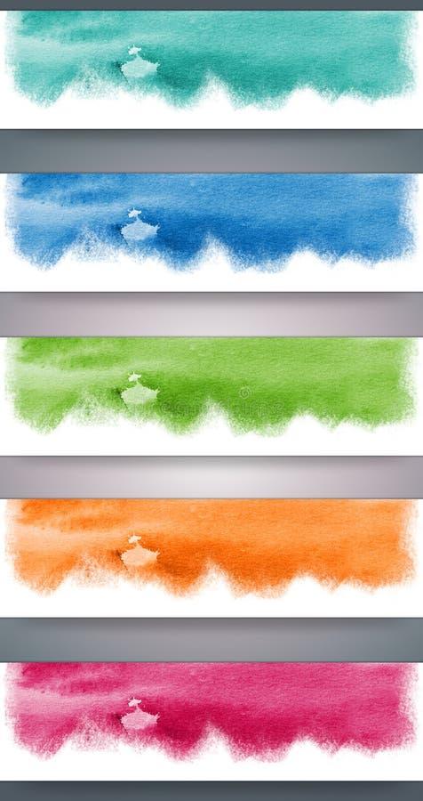En-têtes d'aquarelle illustration libre de droits