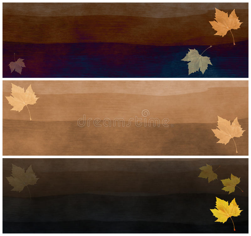 En-têtes d'automne illustration de vecteur