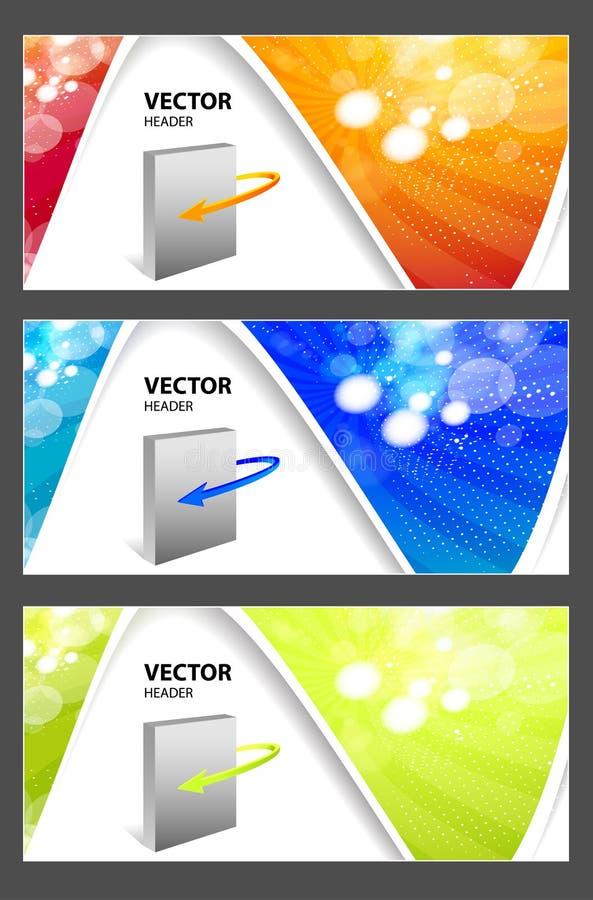 En-têtes de site Web illustration stock