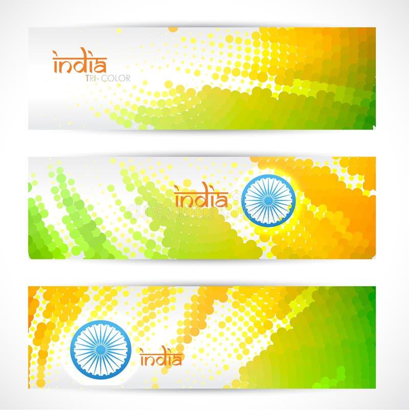 En-têtes indiens d'indicateur réglés illustration de vecteur