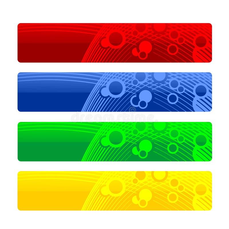 En-têtes ou drapeaux illustration de vecteur