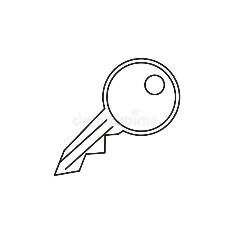 En tangent av symbolen för öppet alla dörrar royaltyfri illustrationer