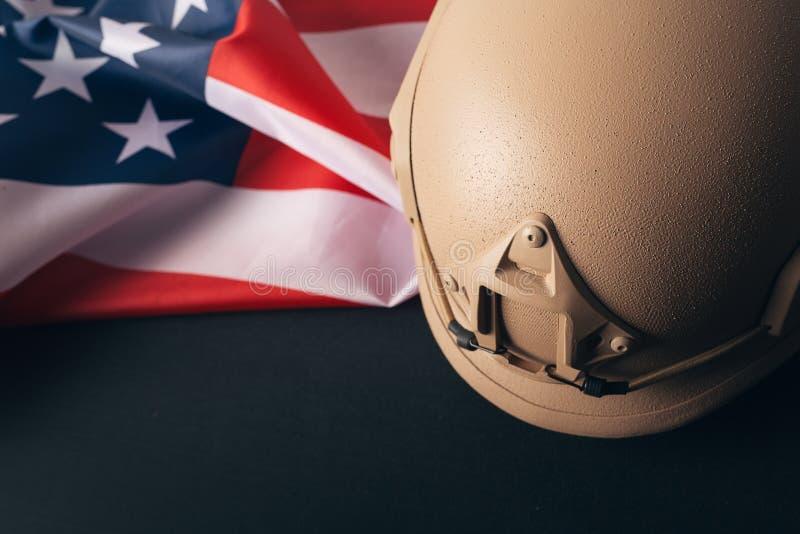 En tappningflagga av Amerikas förenta stater för dag för veteran` s royaltyfri foto
