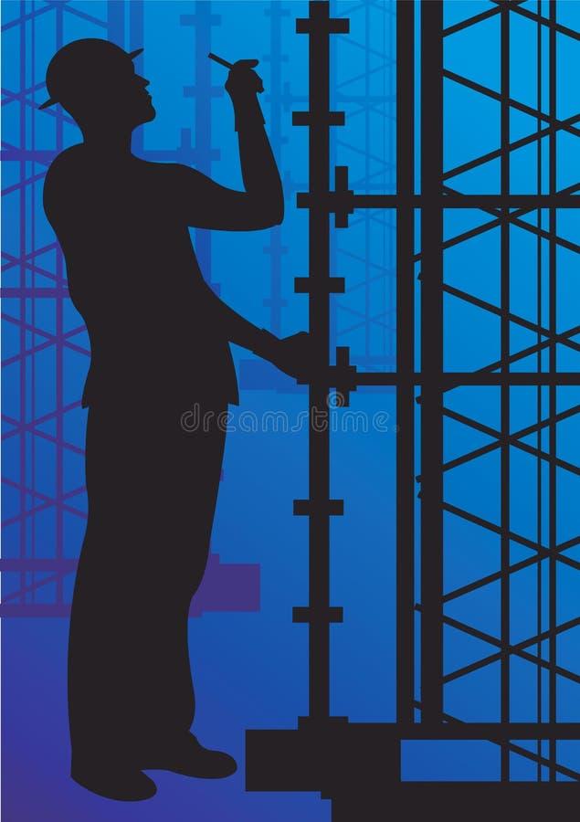 En tekniker royaltyfri illustrationer