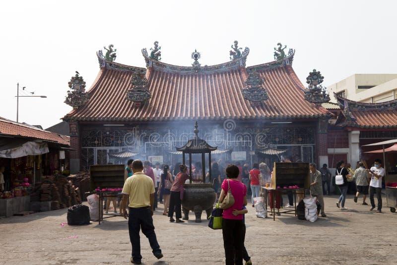 En tempel på ön Penang, Malaysia, Asien arkivfoto