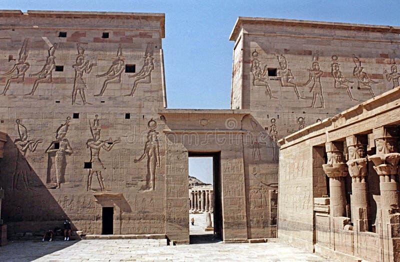 En templo de los philae imagen de archivo