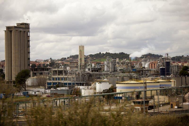 En termisk kraftverkbransch chemical fabriksolja Produktion av energi och bränslen fotografering för bildbyråer