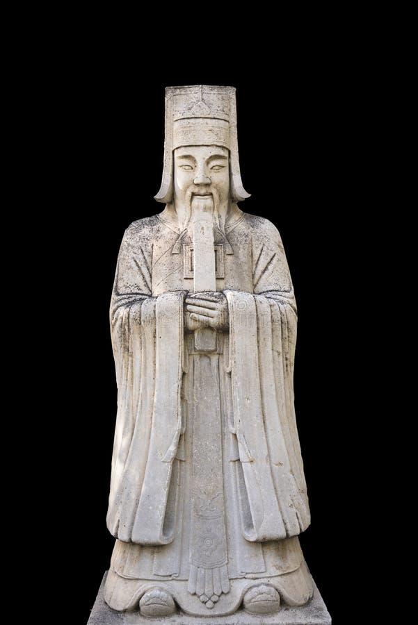 En tjänstemanstenstaty i gudvägen Ming Tombs, Peking arkivfoton