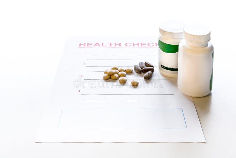 Download En Tom Form För Vård- Kontroll Med Medicin, Vitaminer Och Preventivpillerar Plast- Medicinbehållare Med Etiketten Arkivfoto - Bild: 104860180