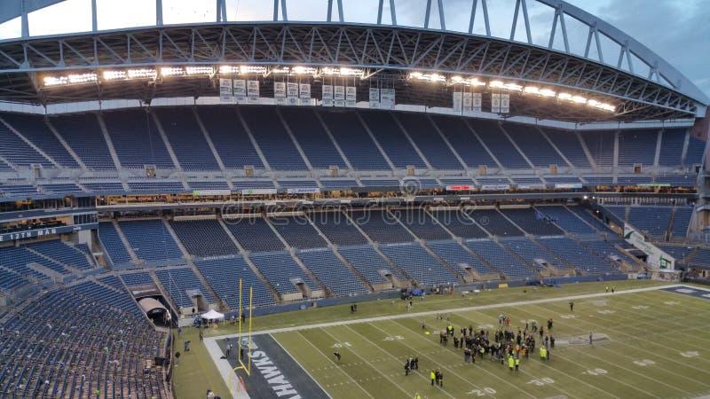 En tom stadion för sportarena i Seattle arkivbild