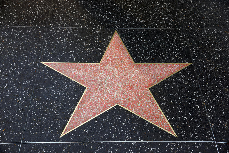 En tom stjärna i Hollywood går av berömmelse royaltyfri bild