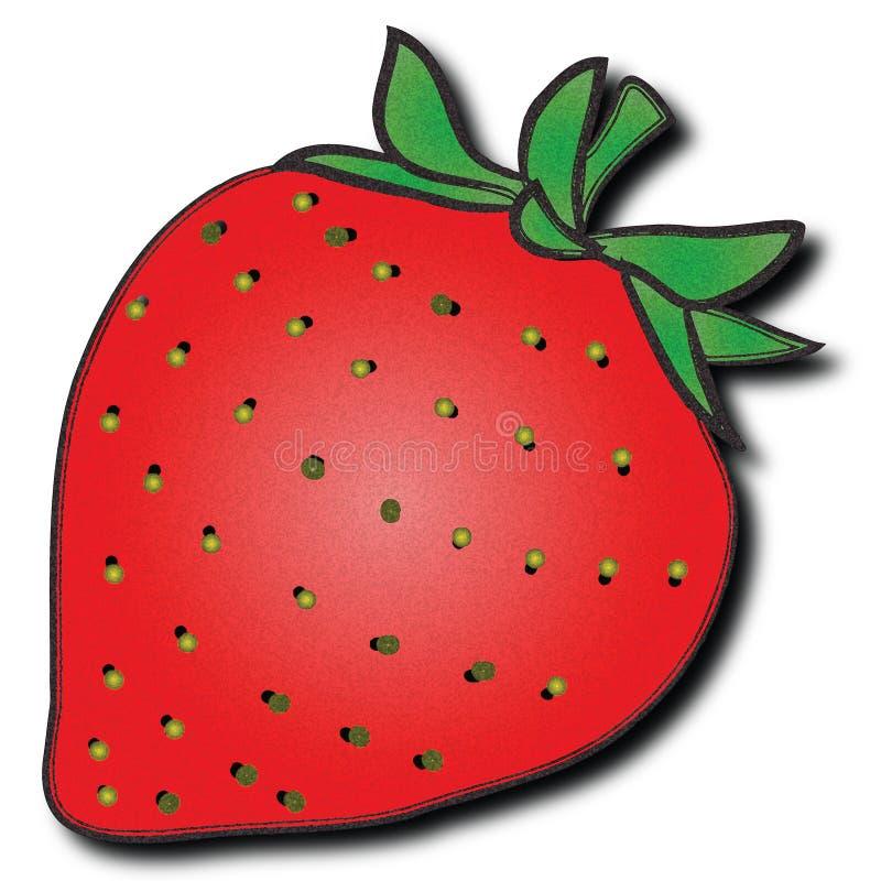 En toppen suckulent jordgubbe royaltyfria bilder