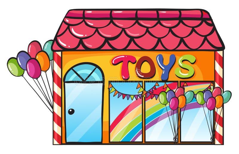 En toy shoppar royaltyfri illustrationer
