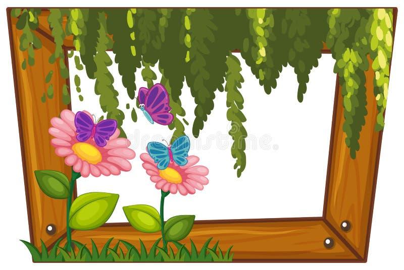 En träram för härlig blomma royaltyfri illustrationer