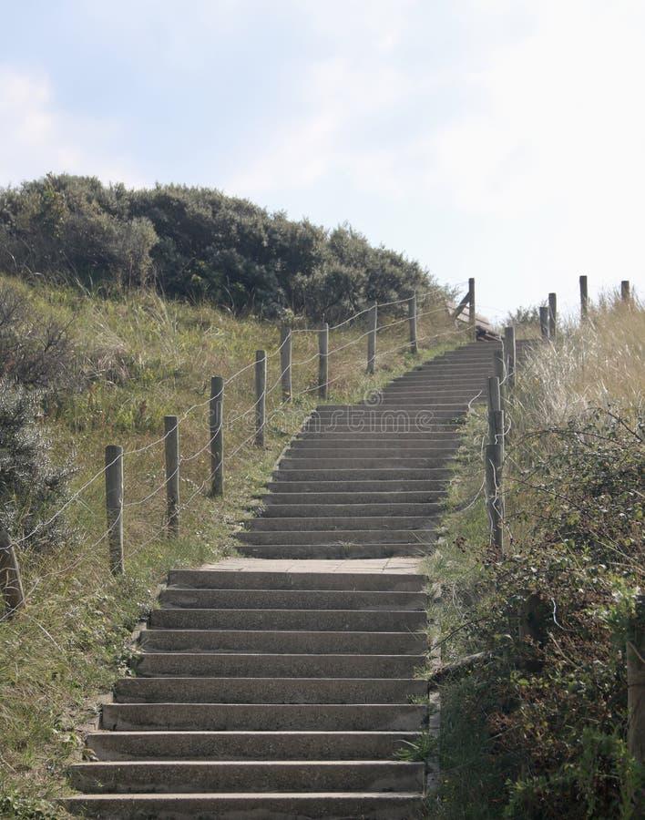 En trappuppgång upp dyerna fotografering för bildbyråer