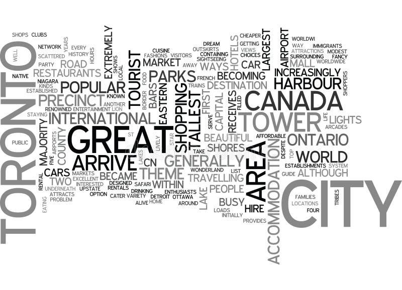En turist- handbok till det Toronto ordmolnet stock illustrationer
