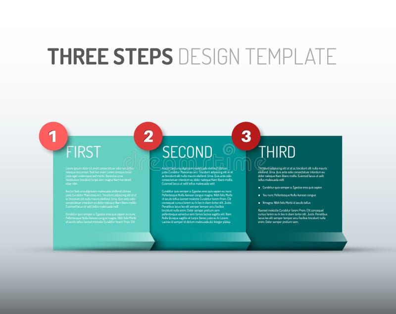 En två tre - moment/alternativ för vektorpappersframsteg stock illustrationer