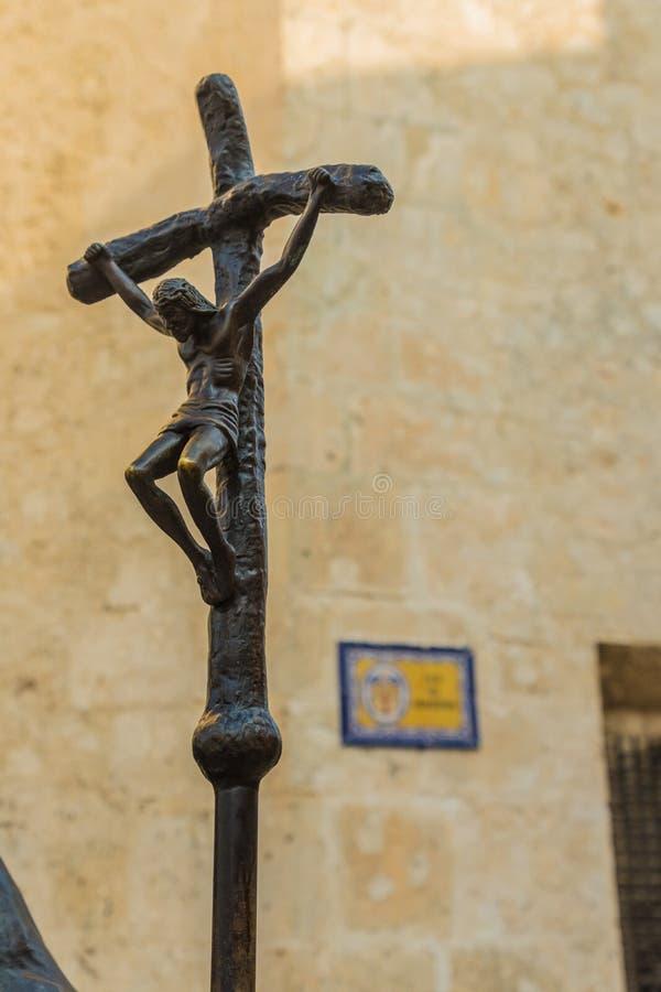 En typisk sikt i Cartagena i Colombia arkivfoto