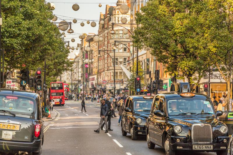 En typisk sikt i london arkivfoton