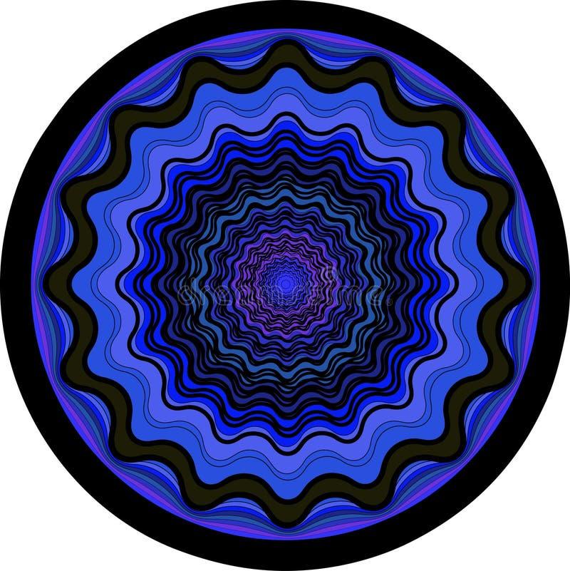 En ultraviolett vektormandala stock illustrationer