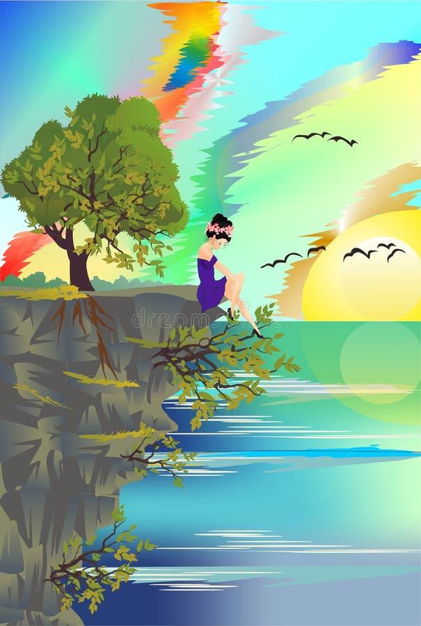 En un acantilado libre illustration