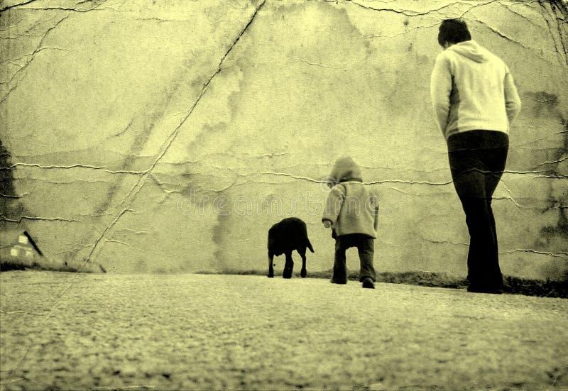 En una caminata fotografía de archivo libre de regalías