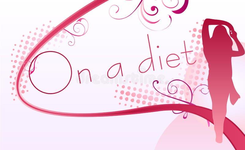 En una dieta stock de ilustración