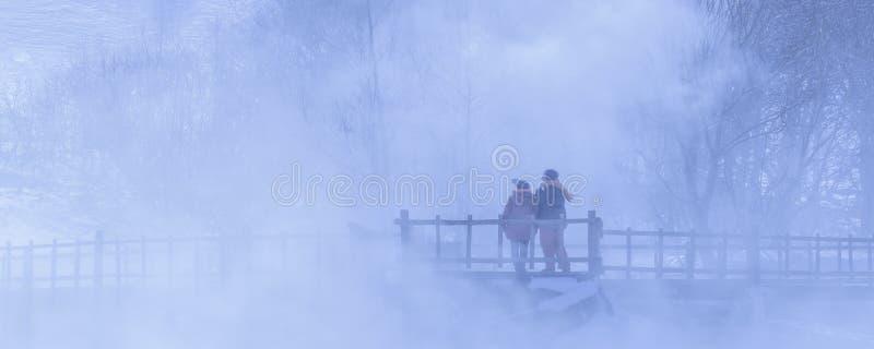 En una niebla foto de archivo libre de regalías