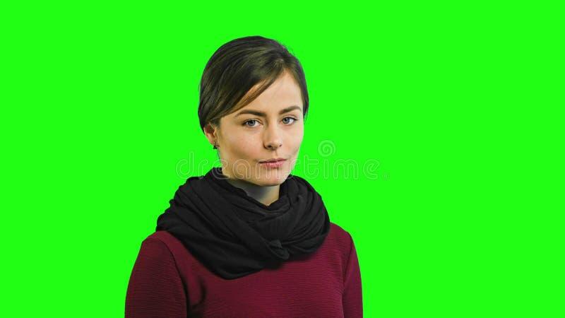 En ung dam förvånas arkivfoton
