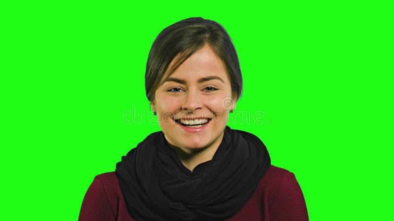 En ung dam Laughing arkivbild