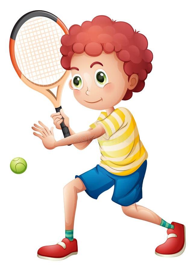 En ung tennisspelare royaltyfri illustrationer