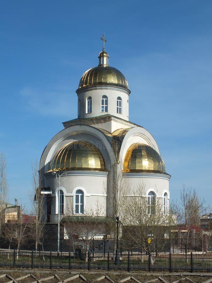 En Uniat kyrka i Astana/Kasakhstan royaltyfri foto