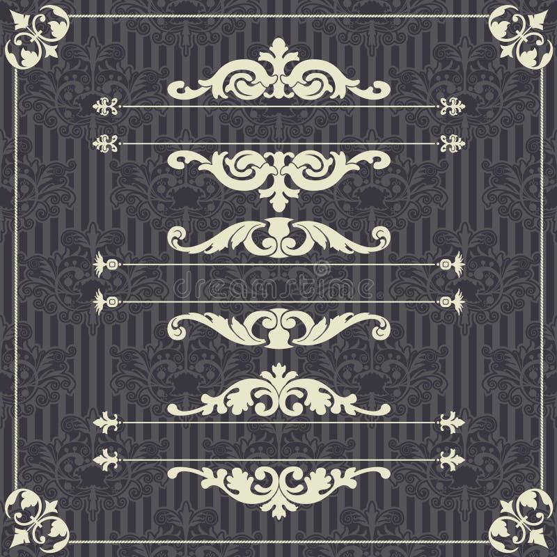 En uppsättning av beståndsdelar för design royaltyfri illustrationer