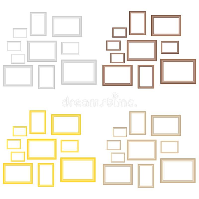 En uppsättning av bildramar royaltyfri illustrationer