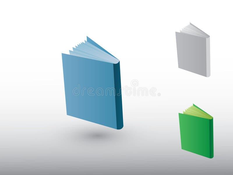 En uppsättning av färgrika boksymboler för fördelande kunskap för högskola och universitet vektor illustrationer