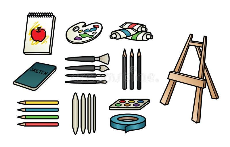 Konsttillförselsymboler vektor illustrationer