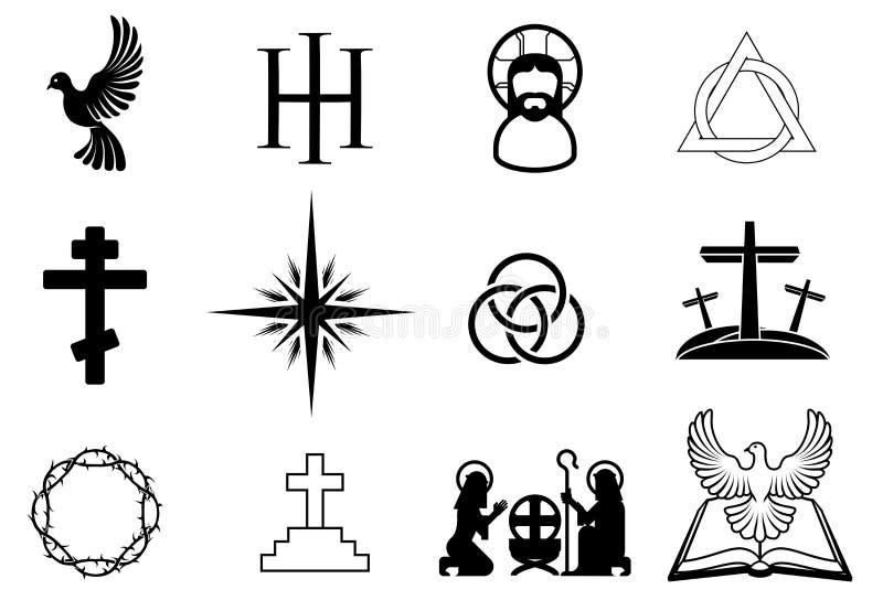 Kristna symboler royaltyfri illustrationer