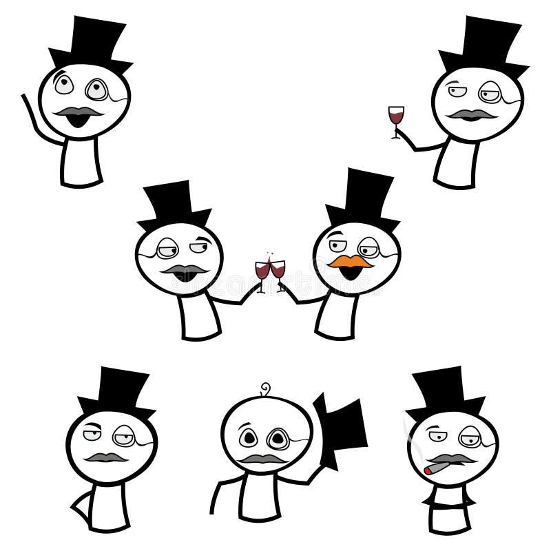 En uppsättning av memes stock illustrationer
