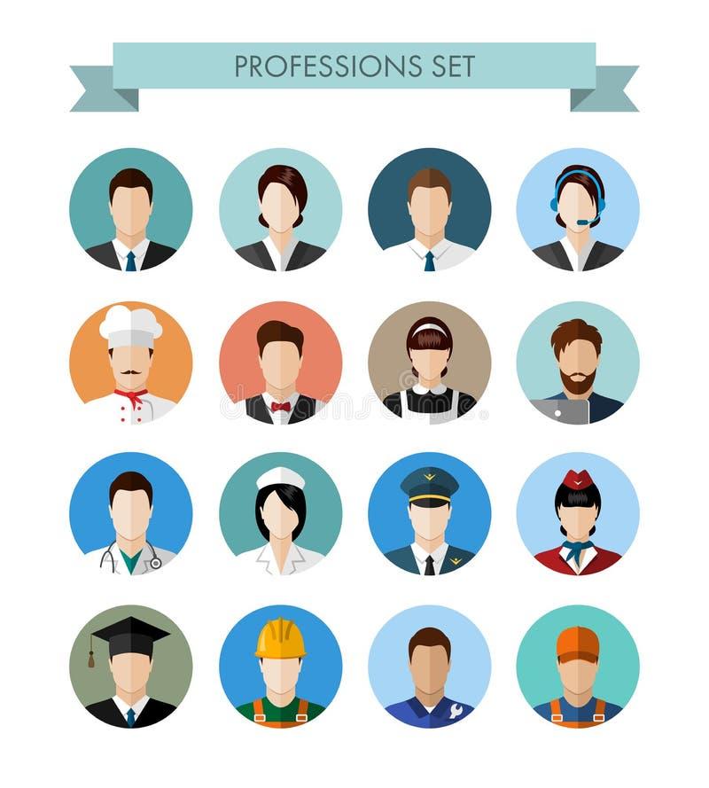 En uppsättning av yrkefolk stock illustrationer