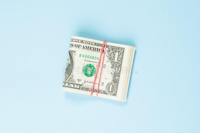 En US dollarpengarkassa 1 dollar sedel royaltyfri fotografi