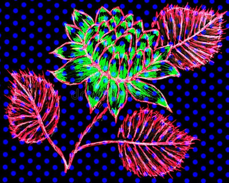 En utdragen bild för hand av en dahlia vektor illustrationer