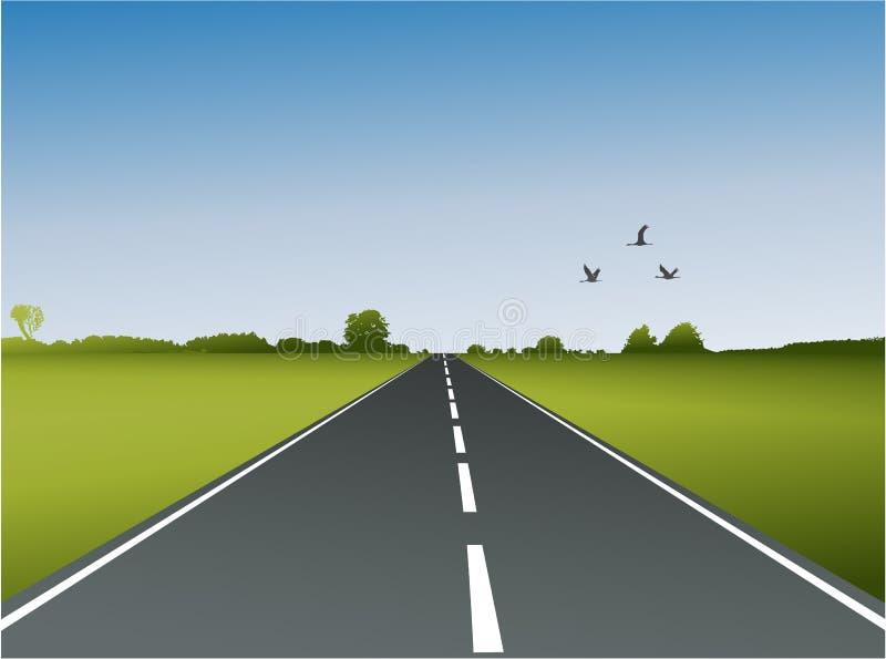 En väg stock illustrationer