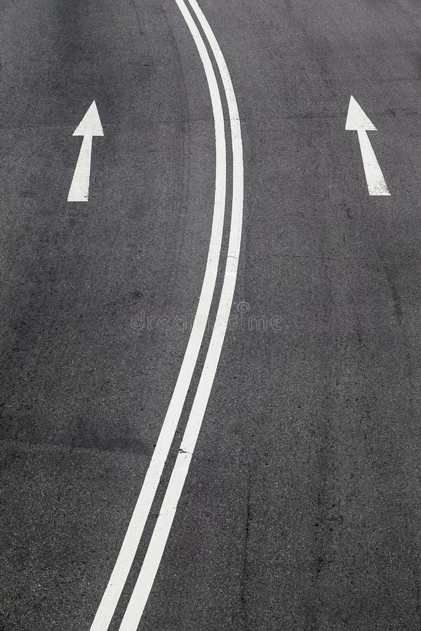 En vägväg royaltyfria foton