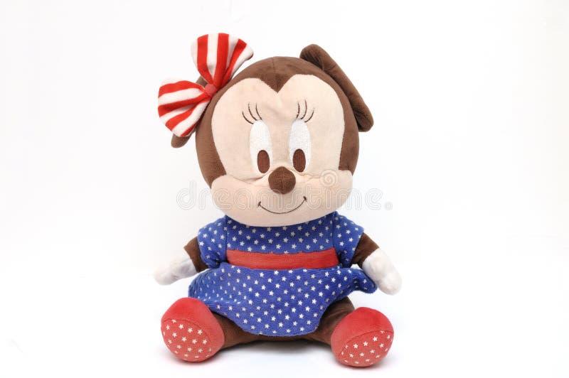 En välfylld leksak av teckenet Minnie Mouse för Walt Disney tecknad filmanimering royaltyfri bild