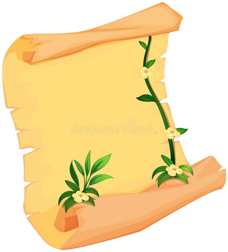 En växt och en snirkel stock illustrationer