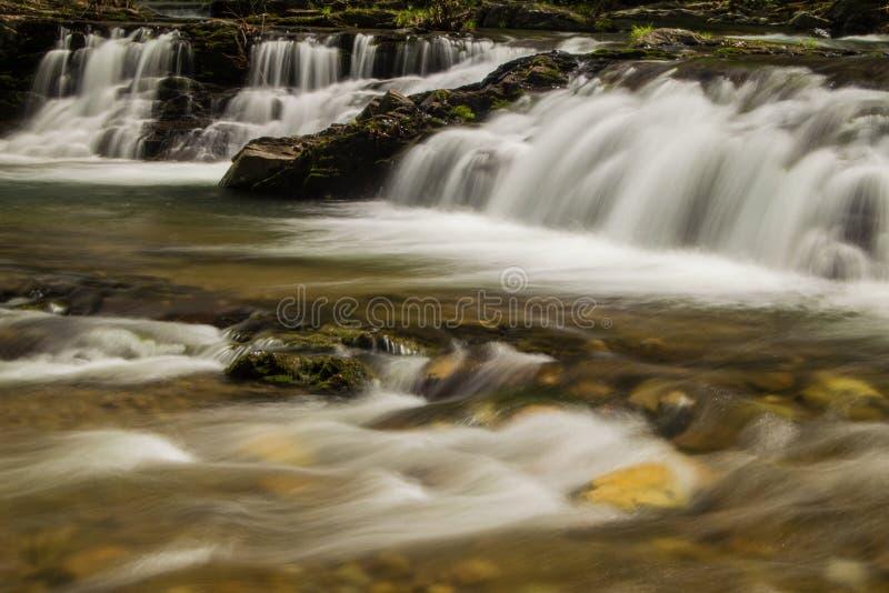En vattenfall i bergen av Virginia, USA royaltyfri foto