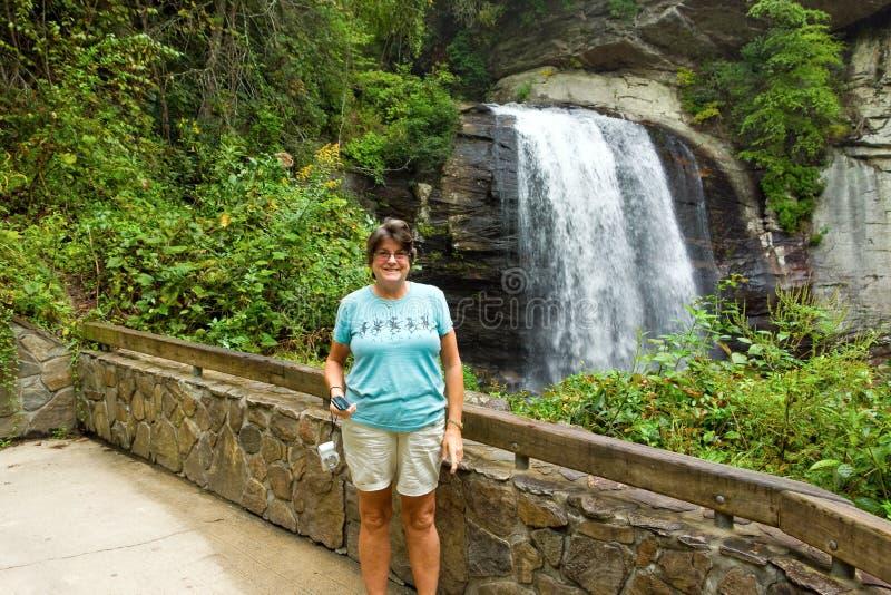 En vattenfall i West Virginia royaltyfri bild