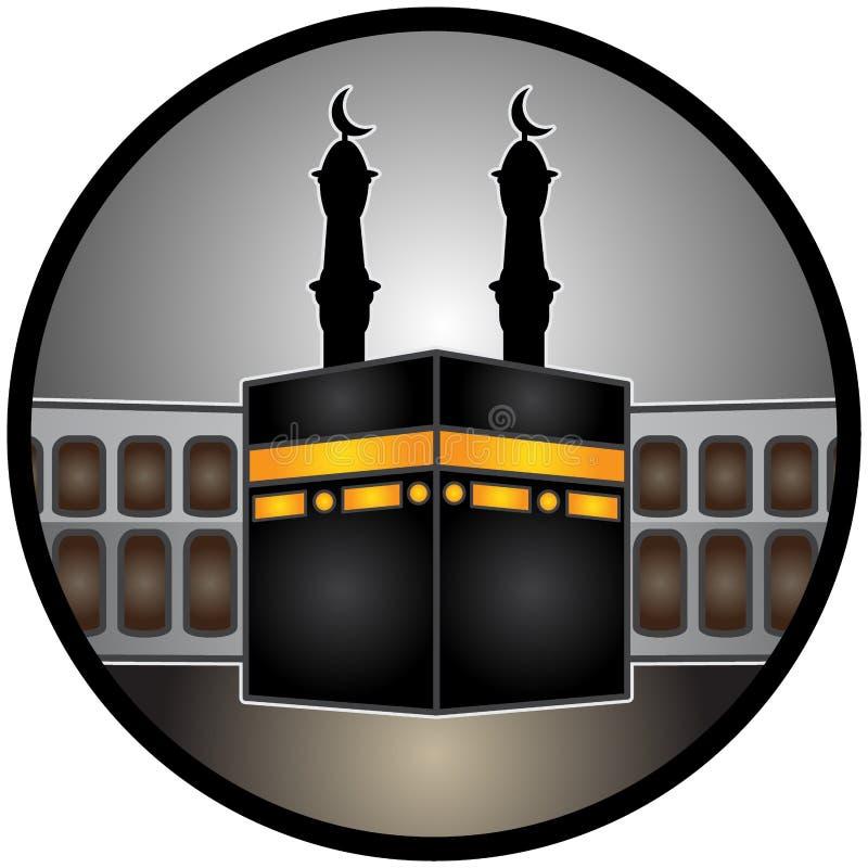 En vektorillustration av Mecka för heligt land stock illustrationer