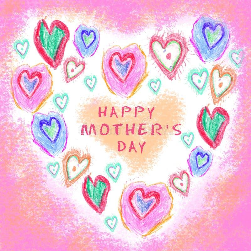 En vektorillustration tecknad hand valentiner för meddelanden för förälskelse för hjärta för grunge för årsdagdatumdag praktiska  royaltyfri illustrationer
