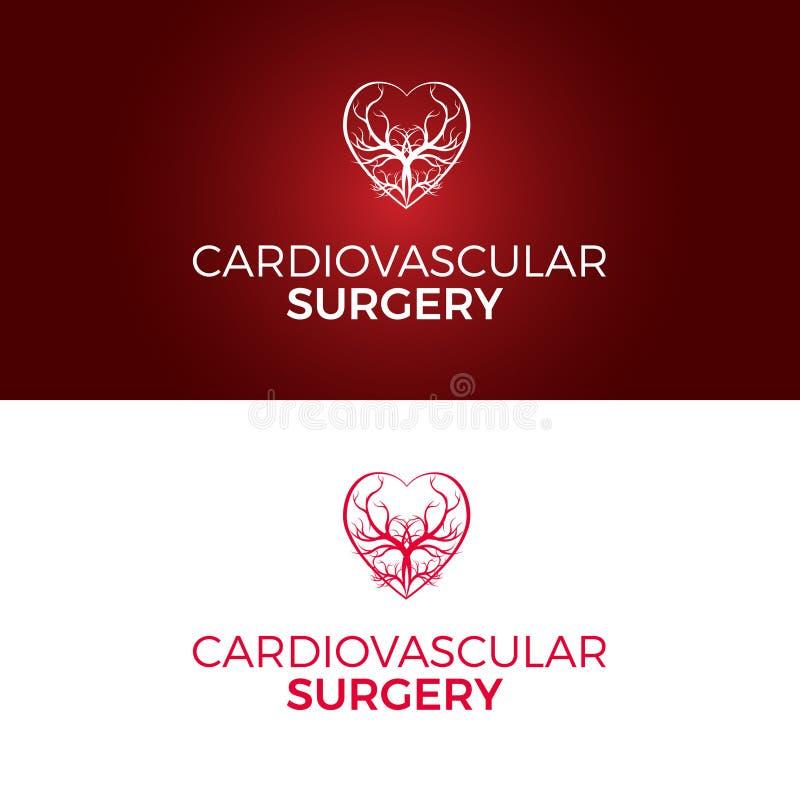En vektorlogomall planlade för kardiovaskulär kirurgi royaltyfri foto